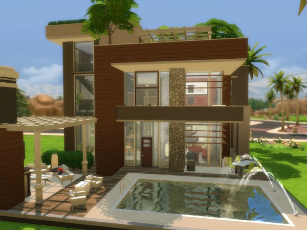 Eco Modern Mansion by NelcaRed at TSR image 14101 Sims 4 Updates