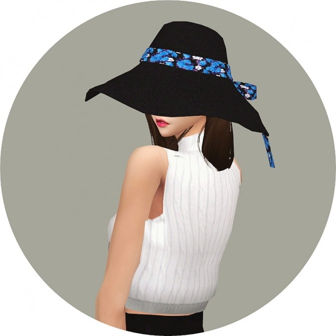 Back Ribbon Wide Floppy Hat at Marigold image 14113 670x670 Sims 4 Updates