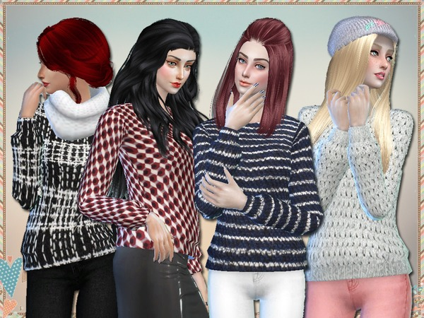 Sims 4 Fascino Sweaters by Simlark at TSR