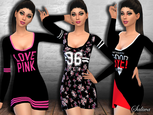Ladies Casual Sporting Dresses by Saliwa at TSR image 1420 Sims 4 Updates