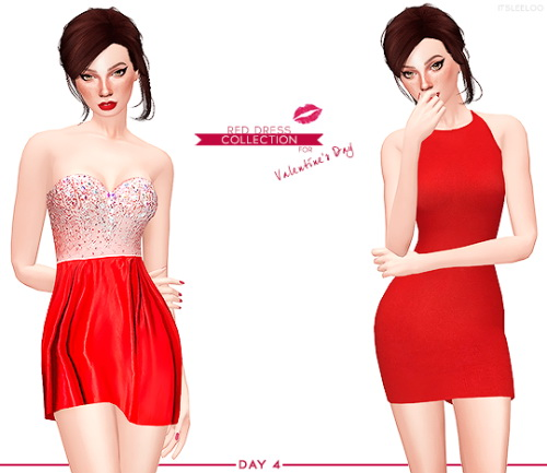 RED DRESS COLLECTION 4 at Leeloo image 1426 Sims 4 Updates
