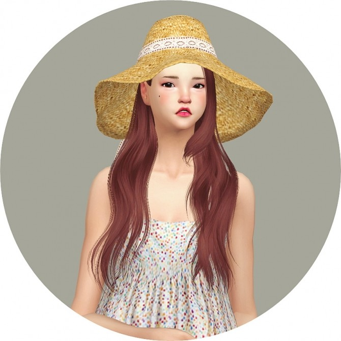 Back Ribbon Wide Floppy Hat at Marigold image 1428 670x670 Sims 4 Updates