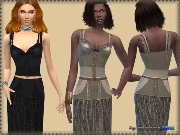 Sims 4 Set Corset by bukovka at TSR