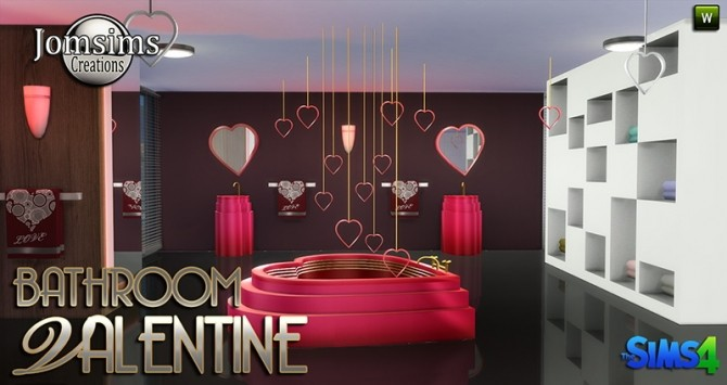 Valentine Bathroom At Jomsims Creations 187 Sims 4 Updates