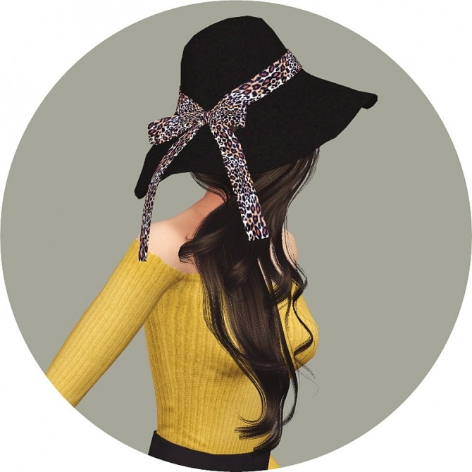 Back Ribbon Wide Floppy Hat at Marigold image 1456 670x670 Sims 4 Updates