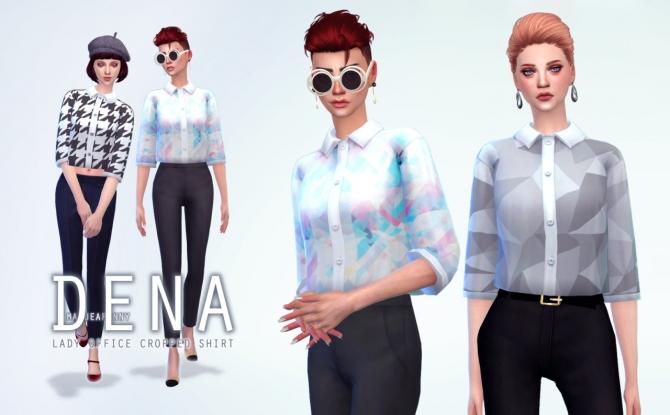 Dena Lady Office Cropped Shirt At Manuea Pinny 187 Sims 4