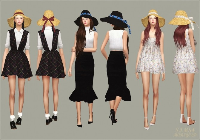 Back Ribbon Wide Floppy Hat at Marigold image 1477 670x471 Sims 4 Updates