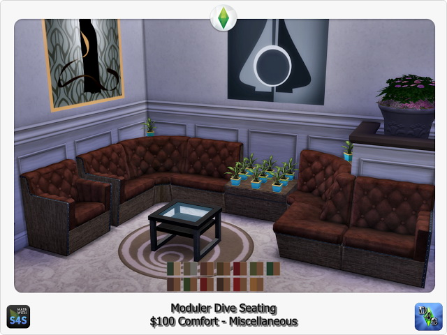 Modular Dive Seating by D4S at Sims 4 Studio image 1482 Sims 4 Updates