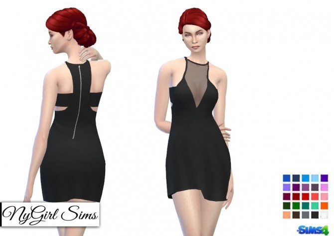 Sheer Panel Layered Racerback Dress at NyGirl Sims image 1493 670x473 Sims 4 Updates