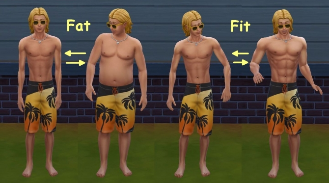 Set Fat Fit By Lynire At Mod The Sims 187 Sims 4 Updates