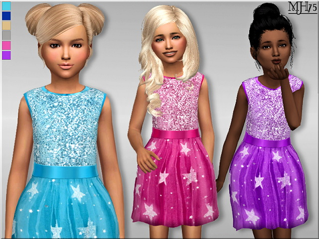 Sims 4 Star Princess Dress by Margeh75 at Sims Addictions