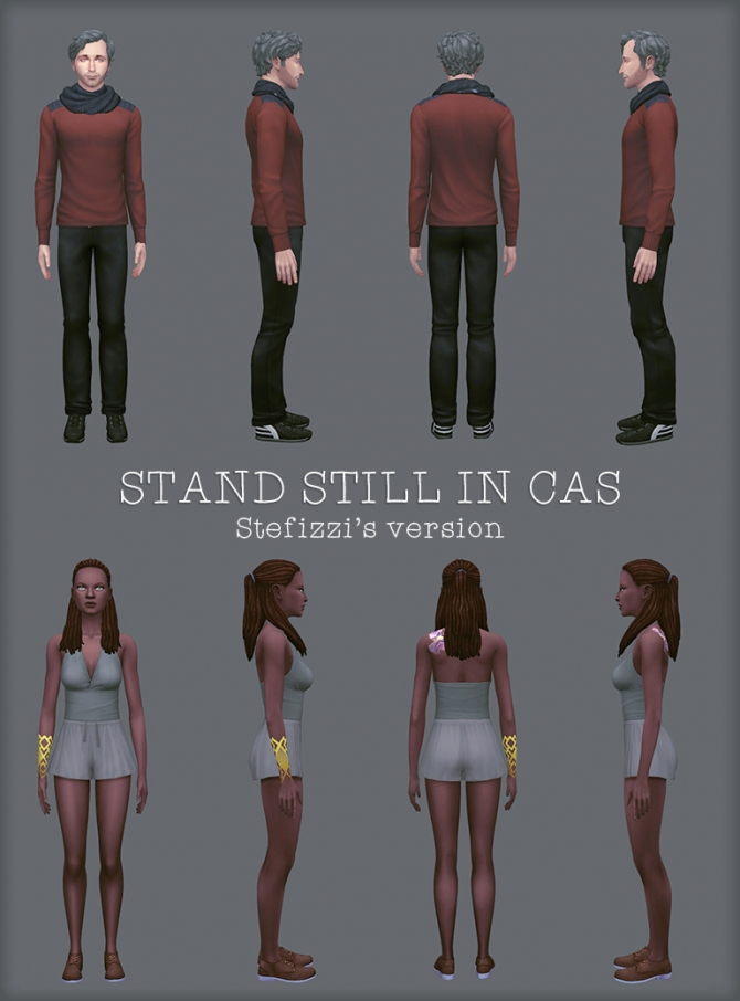 Stand Still In Cas Poses At Stefizzi 187 Sims 4 Updates