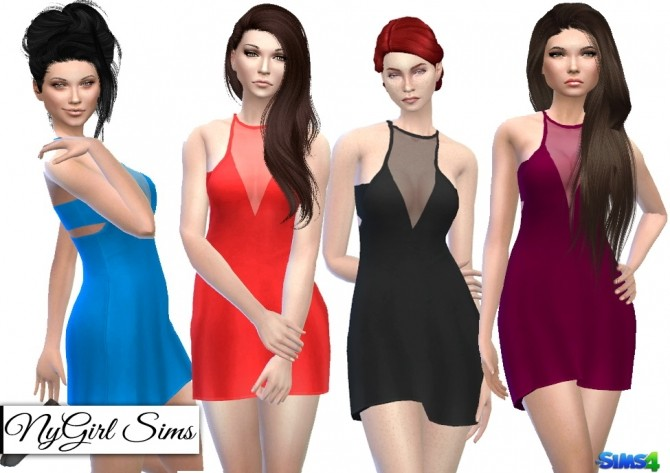 Sheer Panel Layered Racerback Dress at NyGirl Sims image 1503 670x473 Sims 4 Updates