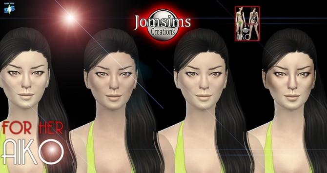 Sims 4 AIKO Asian skinmask at Jomsims Creations