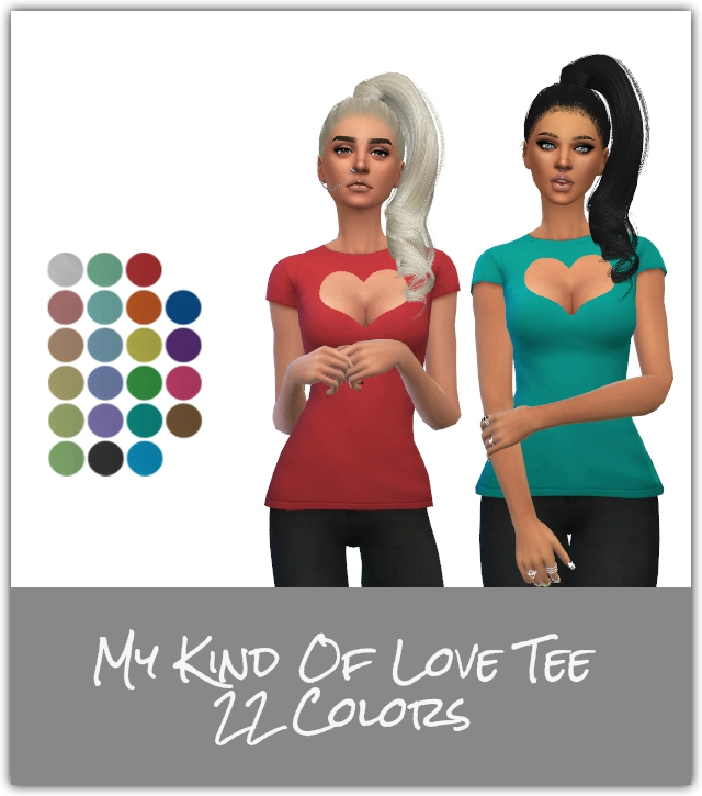 Sims 4 My Kind Of Love Tee at Maimouth Sims4