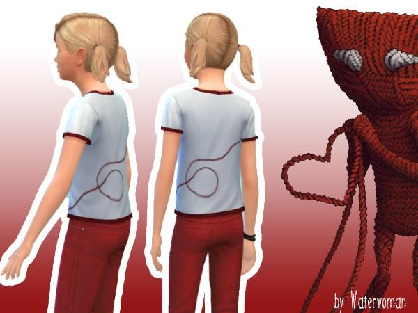 Sims 4 We love Yarny t shirts by Waterwoman at Akisima