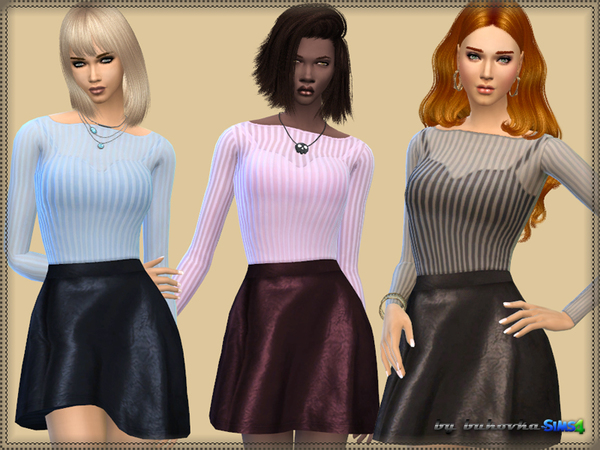 Dress & Leather Skirt by bukovka at TSR image 1530 Sims 4 Updates