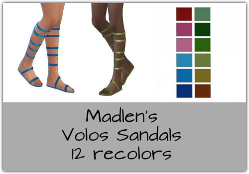 Sims 4 Volos Gladiator Sandals Recolors at Maimouth Sims4