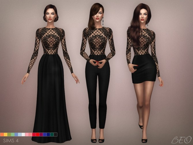 Sims 4 ZM INSPIRATION outfits at BEO Creations