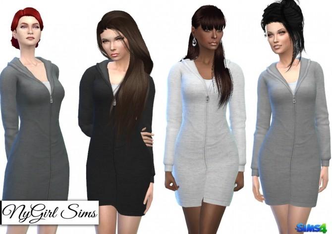 Hooded Sweatshirt Dress at Around the Sims 4 image 16121 670x473 Sims 4 Updates