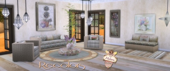 Sofa, armchair and coffee table recolors at Alelore Sims Blog image 1614 670x281 Sims 4 Updates
