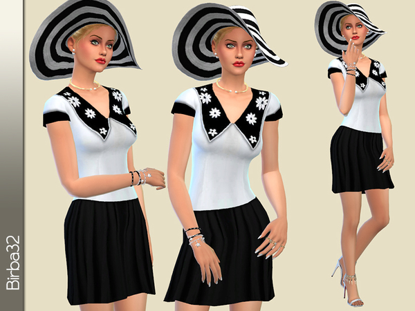 Betty dress by Birba32 at TSR image 1630 Sims 4 Updates