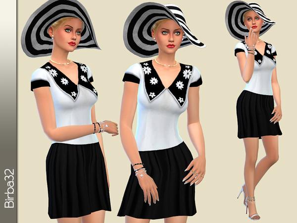 Sims 4 Betty dress by Birba32 at TSR