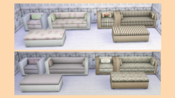 Sofa, armchair and coffee table recolors at Alelore Sims Blog image 1632 670x377 Sims 4 Updates