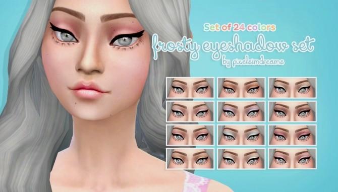 Sims 4 Frosty Eyeshadow Set at Pixelsimdreams