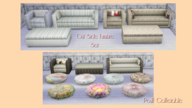 Sofa, armchair and coffee table recolors at Alelore Sims Blog image 1642 670x377 Sims 4 Updates