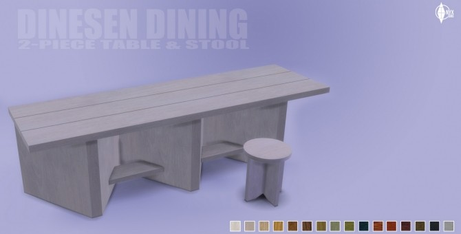 Sims 4 TS4 Dinesen 2 Piece Dining Set at Onyx Sims