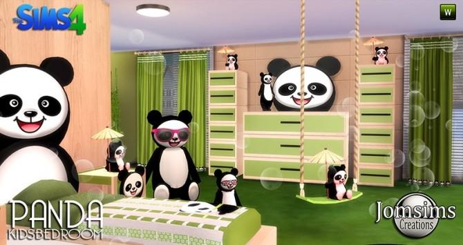 Panda Kids Bedroom At Jomsims Creations 187 Sims 4 Updates