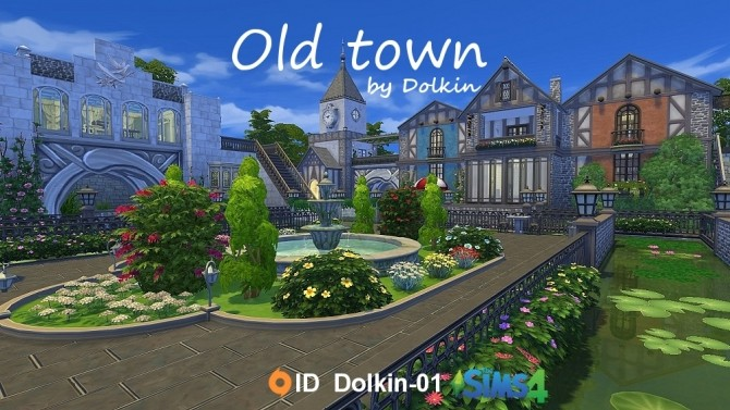 Old Town By Dolkin At Ihelensims 187 Sims 4 Updates