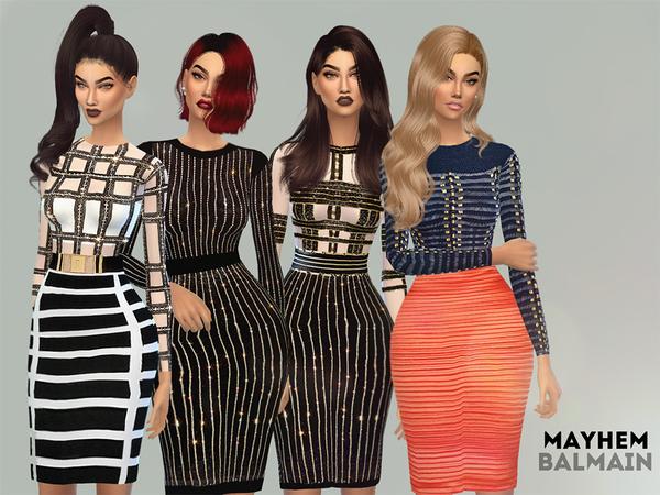 Sims 4 Dress Set by NataliMayhem at TSR