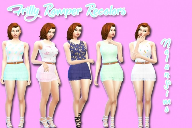 Sims 4 Nolan Sims Frilly Romper Recolors by Moonlight Simss at SimsWorkshop