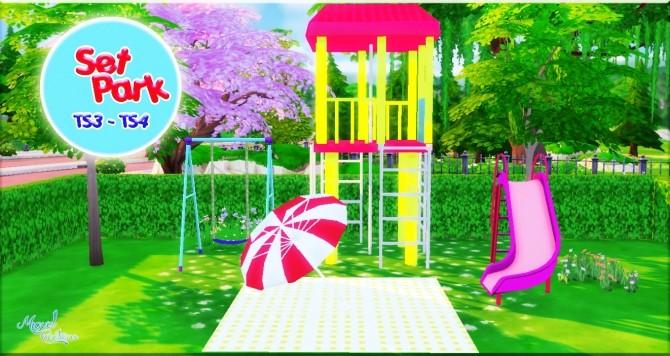 Park set (TS3   TS4) at Victor Miguel image 1685 670x356 Sims 4 Updates