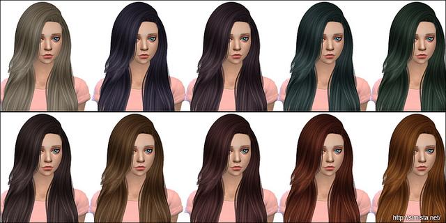 Sims 4 Violet Hair Retexture at Simista