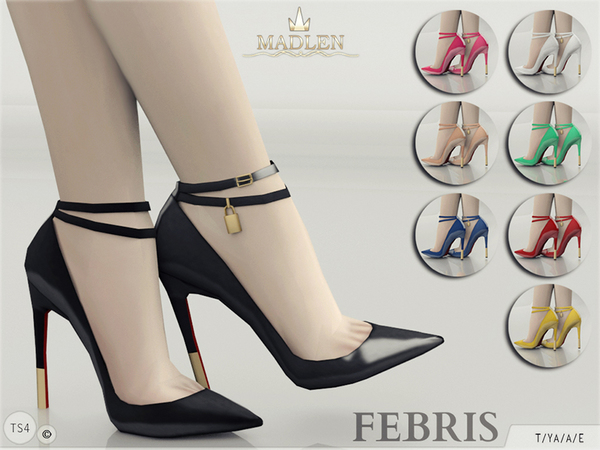 Sims 4 Madlen Febris Shoes by MJ95 at TSR