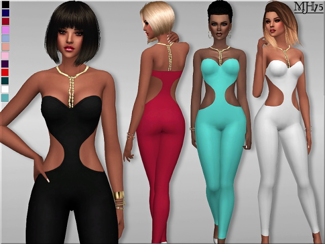 Organza Jumpsuit At Sims Addictions 187 Sims 4 Updates