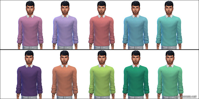Sims 4 Ym Sweater Shirt Recolours at Simista