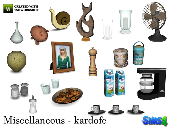 Sims 4 18 Miscellaneous deco items by kardofe at TSR