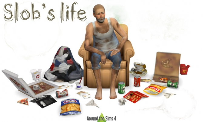 Slob S Life Clutter By Sandy At Around The Sims 4 187 Sims 4