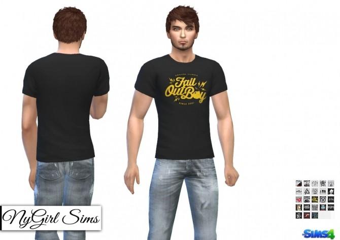Graphic Band Tees at NyGirl Sims » Sims 4 Updates