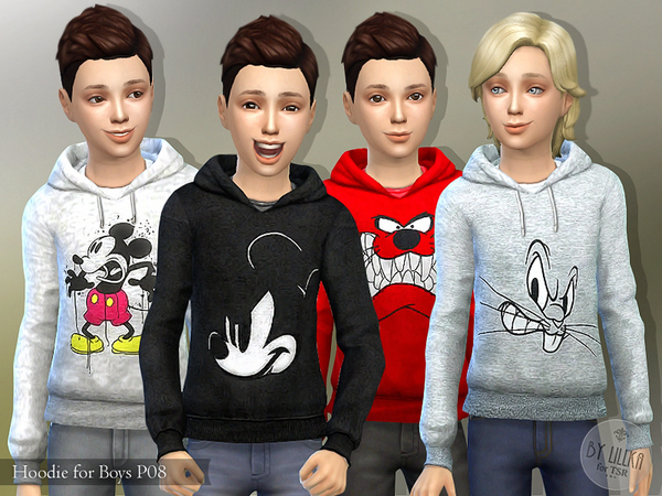 Hoodie for Boys P08 by lillka at TSR image 1728 Sims 4 Updates