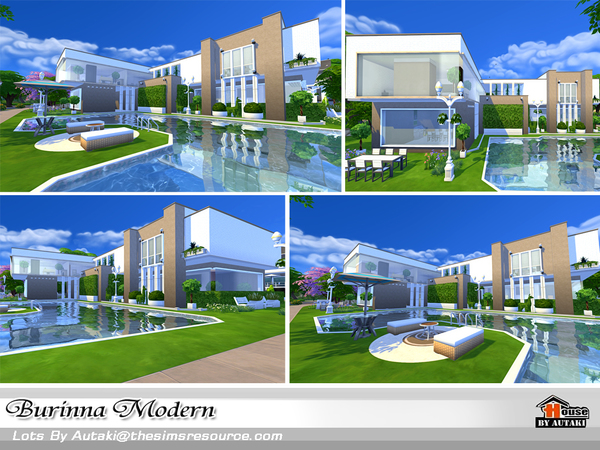 Burinna Modern house by autaki at TSR image 1739 Sims 4 Updates