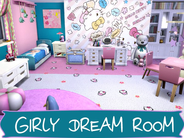 Girly Dream Room At Akisima 187 Sims 4 Updates