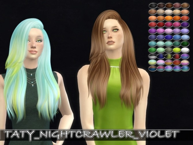 Nightcrawler Violet hair retexture by Taty86 at SimsWorkshop image 1757 670x503 Sims 4 Updates