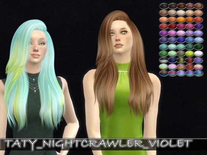 Sims 4 Nightcrawler Violet hair retexture by Taty86 at SimsWorkshop