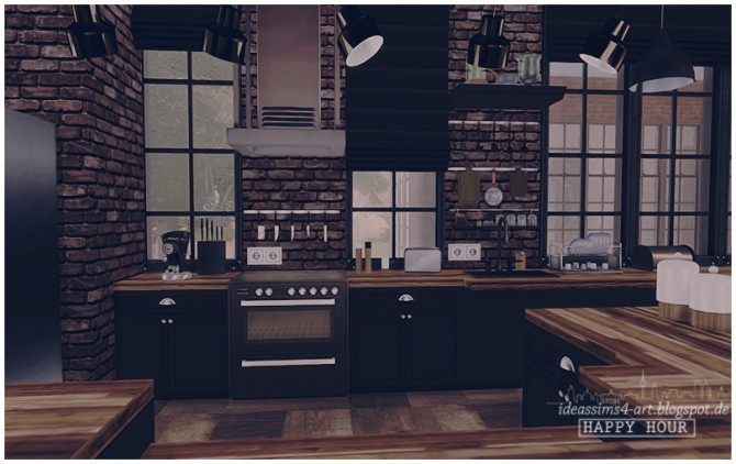 happyhour industrial style house at ideassims4 art image 17610 670x422 sims 4 updates - Industrial House 2016