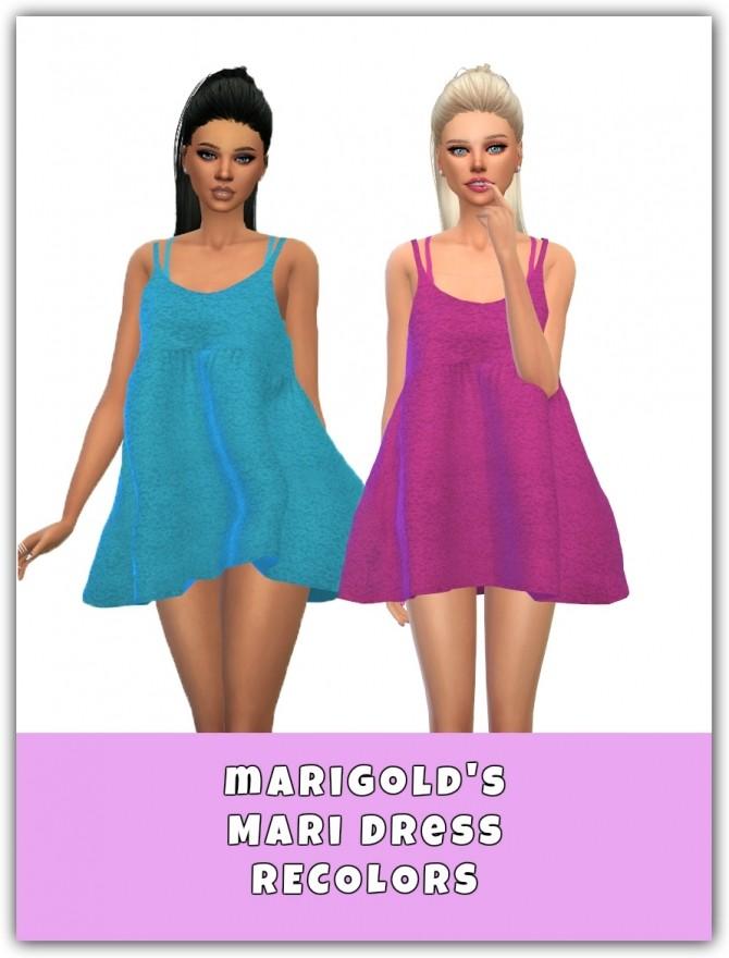 Sims 4 Mari Dress Recolors at Maimouth Sims4
